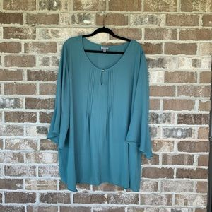Avenue Teal Flowy Work Top Size 30/32